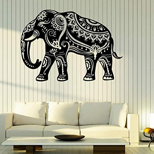 Muursticker Indische olifant muur Vinyl Decal patroon op de huid thuis interieur Decor muur Decal sterke lijm Vinyl behang
