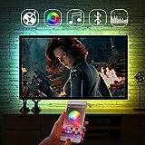 LEDテレビバックライト、アプリリモコンライトバー、S型音楽ムードライト、多様な色・マルチモード - 2.5M