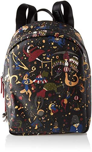 piero guidi Back Pack, Borsa a Zainetto Donna, Nero (Prugna), 24x31.5x12.5 cm (W x H x L)