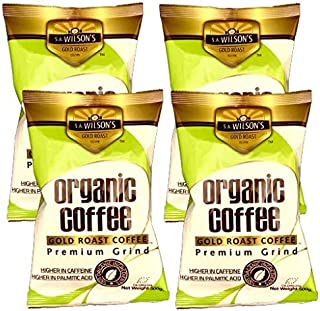 4 x S.A.Wilsons Gold Roast Coffee The Original and still Best for higher levels of caffeine and Palmitic acid 4 X (500g)