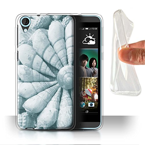 Stuff4 Phone Case/Cover/Skin/htcdes820-gc/Teal Fashion Collection Coquilles de Mer