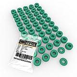 3 mm x 2 mm (7 mm OD) Green Viton® (FKM) juntas tóricas métricas de goma, dureza 75 A, paquete de 100