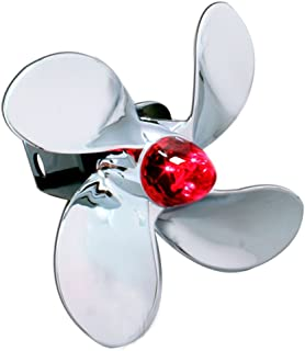 Bully CR-402L Chrome Boat Propeller Funny Trailer Truck Towing Hitch Receiver Cover with Plug In LED Brake Lights for Chevy, Dodge, GMC, Ford, Toyota, and Others