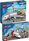 Bundle Juego de 2 aeropuerto Lego® City 60261 60262 + avión de pasajeros