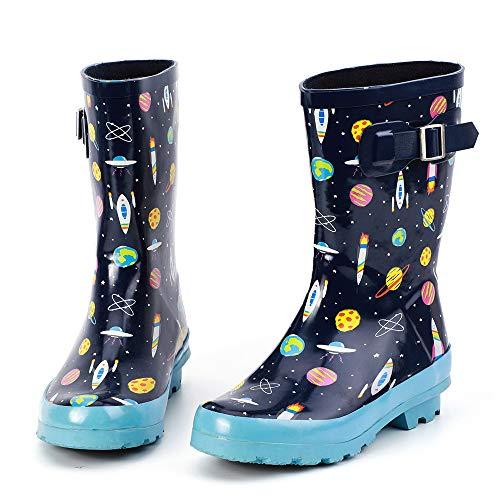Deer Stags Ranch Kids Cowboy Boot (Toddler/Little Kid/Big Kid), Black, 13 M US Little Kid