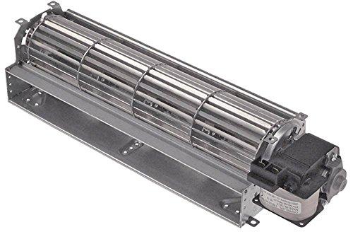 Tecnoeka - Ventilador transversal para estufa de aire caliente 930 (38 W, diámetro de 60 mm, 300 mm, motor derecho, 230 V, 50 Hz, conector plano de 6,3 mm)