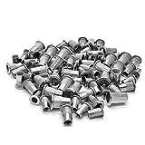 Veda Lot de 100 x écrou M4x25, M5x25, M6x25, M8x25 fileté Rivet en acier inoxydable insère pour rivnut
