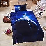 Impresión 3D Cielo Estrellado 3 Piezas Lavable Textiles para El Hogar Apartamento Hotel Ropa De Cama Funda Nórdica Funda Nórdica Funda De Almohada 228x228cm(WxH) B