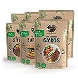 """EARLY GREEN Trockenmischung """"Klassiker"""" 6er-Set   Für veganes Gyros, Burger und Steaks   100% pflanzlich aus Soja-& Erbsenprotein"""