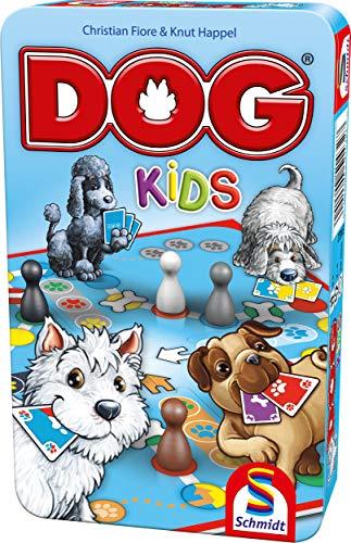 Schmidt Spiele 51432 Dog Kids, Bring Mich mit Spiel in der Metalldose, bunt