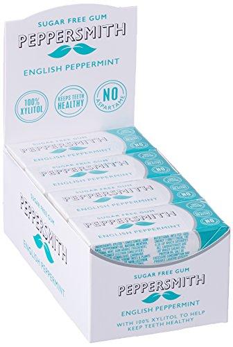 Peppersmith 100% Xylitol Kaugummi Pfefferminze, (12 x 15 g), 1er Pack (1 x 0.18 kg)