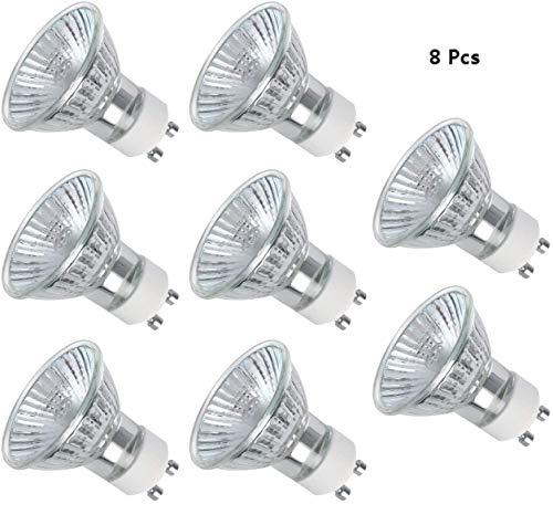 Voarge 8 Stücke GU10 Halogen-Reflektor, Halogen-Stiftsockellampe GU10, Warmweiß Halogenlampe 50W 220V-240V, für Küchen,Wohnzimmern,Schlafzimmern,Fluren