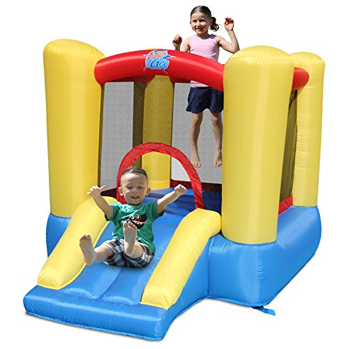 ACTION AIR Bounce House, Toddler Inflatable Bounce House with Blower for Indoor/Outdoor, Bouncy Castle with Durable Sewn and Extra Thick, Jump House with Slide (9309Y)