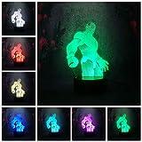 Guapo guay estatua regalo hombre niño adoración noche luz 3D lámpara de mesa niños juguete regalo led estéreo color lámpara de escritorio