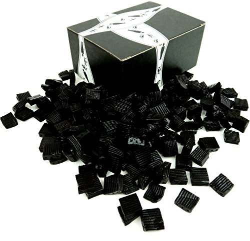 Finnish Black Licorice Ripples by Cuckoo Luckoo Confections, 2 lb Bag in a BlackTie Box