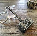 Ourbest Porte-clés marteau Thor en étain