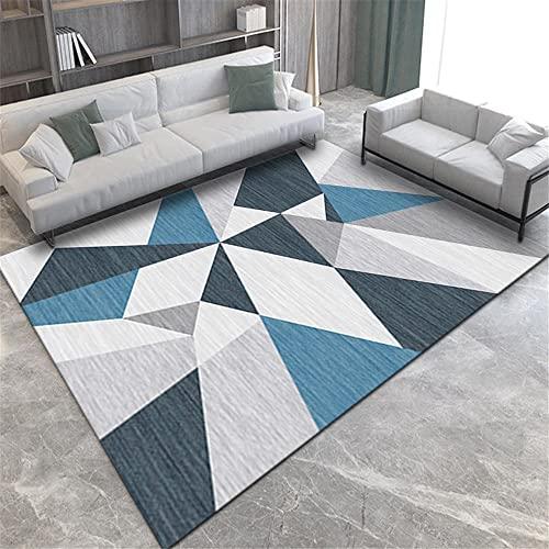 """alfombras pie de cama alfombra infantiles Decoración de la sala de estar del dormitorio del estilo moderno del rectángulo de la alfombra gris azul alfombras a medida online 80X160CM 2ft 7.5""""X5ft 3"""""""
