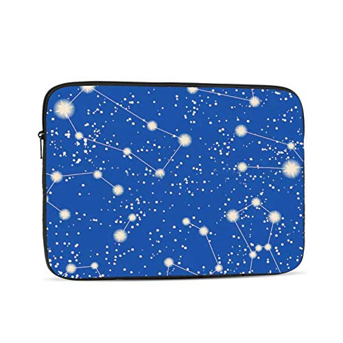 Computer Bag Liner Carrying Bag Shockproof Soft Lining Durable Handbag Constellation Stars Blue Sky Space 15 Inch