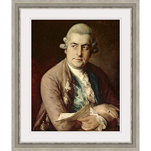 GREATBIGCANVAS Johann Christian Bach, 1776' Silver Framed Wall Art Print, 11'x14'x1.25'