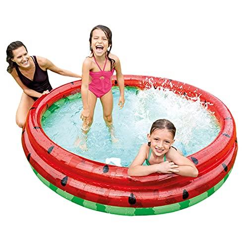 Piscina Inflable para Niños, Piscina Sandía Piscina Redonda 3 Anillos, Safe Strong Family Baby Ball Pit Piscina para Niños para Niños Pequeños Diversión De Verano Al Aire Libre En Interiores