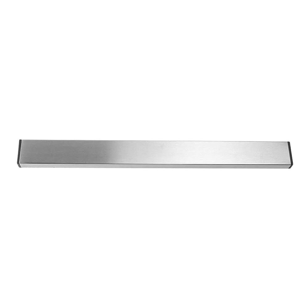 なめらか無条件肘Saikogoods 実用的なホーム台所の壁マウントされた磁気ナイフホルダー耐久性のあるステンレススチール簡単に保存ナイフは台所用具ラック 銀 M