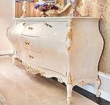 Casa Padrino cómoda Barroco de Lujo Crema/Oro 243 x 60 x A. 115 cm - Mueble de Madera Maciza magnífica con 2 Puertas y 3 cajones - Muebles Barrocos Nobles