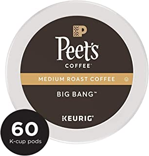 Peet's Coffee Big Bang, Medium Roast, 60 Count Single Serve K-Cup Coffee Pods for Keurig Coffee Maker