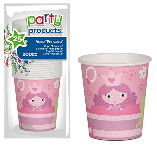 Party - Pack 25 bekers karton, prinsessen (68235)