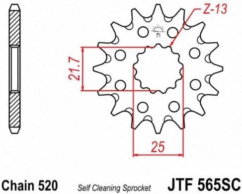 Front 14 Tooth Steel Countershaft Sprocket JT Sprockets JTF565.14SC