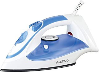 MARTISAN Steam Iron for Clothes, Non-Stick Soleplate Iron, Variable Temperature and Steam Control, Self-Cleaning Function, Blue