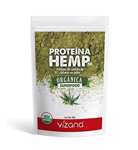Proteína de Hemp 100% Orgánica Certificada USDA en polvo 200g Vizana Nutrition
