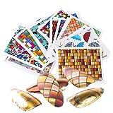 NOBRAND WENJUNBAO 24pc / Set Sliders for Uñas Flor Tiras Diseño Nail Folios Decorativos Etiqueta de Invierno de Transferencia de Agua del Arte Calcomanías CHWG3046-3069