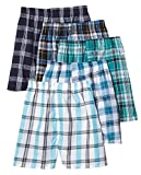 Fruit of the Loom Men's Woven Tartan and Plaid Boxer Multipack (XXX-Large, Assorted Low Rise)