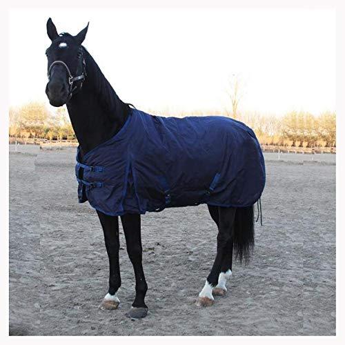XLYAN Turnout Tapijt Ademend Dik Katoen Poncho Winter Vest, Dubbele Borstgesp, Waterdicht En Koud, Donkerblauw Blue-6.3