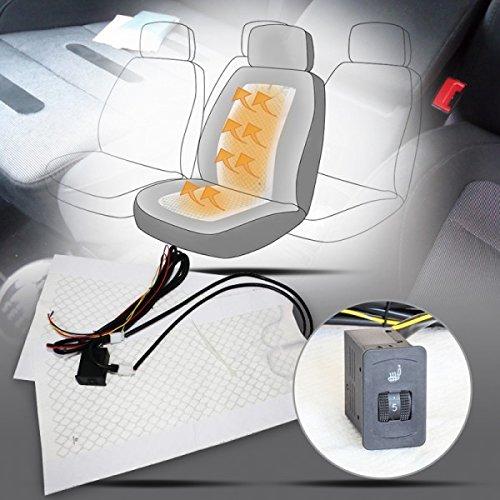 Wohnstyle24 Auto Carbon Universal Sitzheizung Heizmatten Nachrüstsatz KFZ PKW 5 Stufen