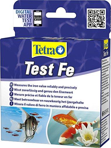 Tetra Test Fe (Eisen) - Wassertest für Süßwasser-Aquarien und Gartenteiche, misst zuverlässig und genau den Eisenwert
