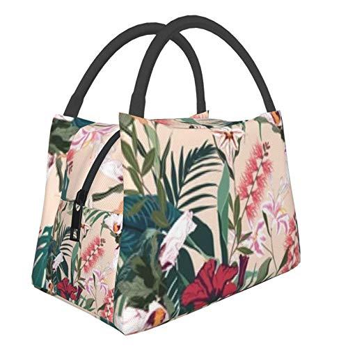 Bolsa de almuerzo portátil con aislamiento Cool (Tropical Lilies Protea Otro) 8.5L