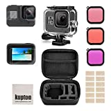 Kupton Accessories Kit for GoPro Hero 8 Black Bundle Includes Waterproof Housing + Tempered Glass Screen Protector + Carrying Case + Snorkel Filters + Anti-Fog Inserts for Go Pro Hero8