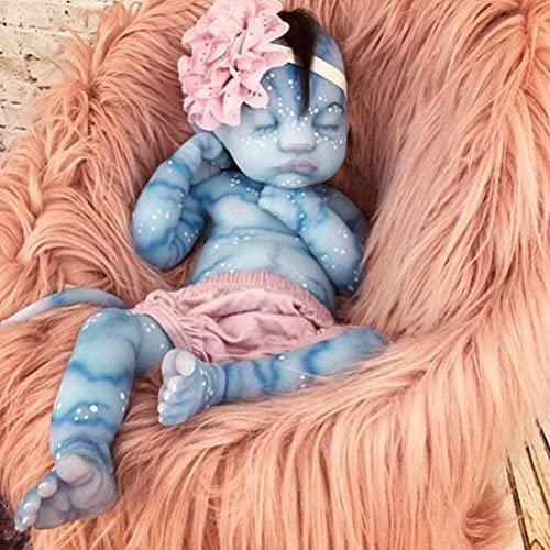 YLJXXY Muñeca Reborn, Vinilo de Silicona Realista Avatar Girl muñecas realistas para bebés durmientes con Ropa Encantadora Playmate para niños 30CM / 50CM
