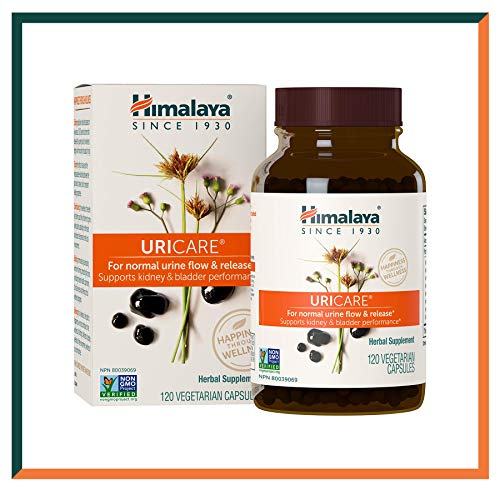 Himalaya UriCare, Caffeine-Free, Kidney and Urinary Tract Support 840 mg, 120 Capsules, 1 Month Supply