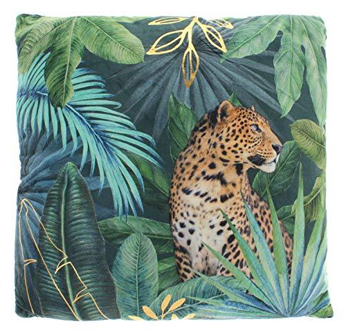 MIK Funshopping Kuschel-Kissen Dekokissen mit Allover-Print 40x40 cm (Wildlife Jungle)
