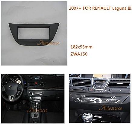 Autostereo - Marco de salpicadero para montaje de estéreo y sistema de sonido de Renault Laguna III 2007+ kit de instalación de ...