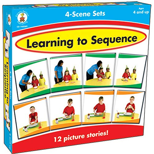Carson-Dellosa Learning to Sequence 4-Scene Educational Board Game