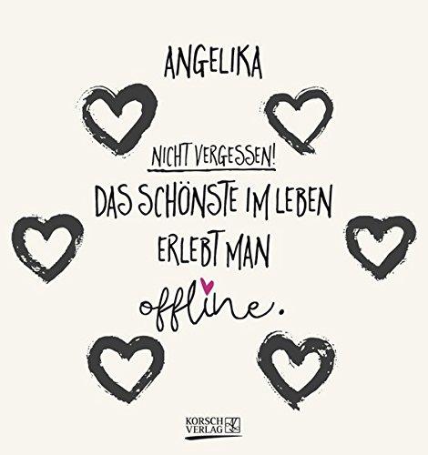 Namenskalender Angelika: Ideales Geschenk mit 12 trendigen Typo-Art-Sprüche mit immerwährendem Kalendarium. Wand-Aufstell-Postkarten-Kalender in einem.