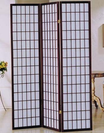 AMBfurniture.com 3 panel cherry finish divider screen shoji 2021 new room Recommendation