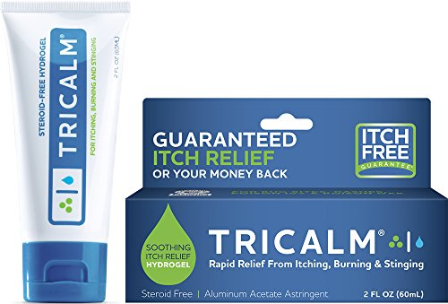 TriCalm Soothing SteroidFree AntiItch Hydrogel for Bug Bites Eczema and More Contains No Hydrocortisone 2 Fluid Ounce