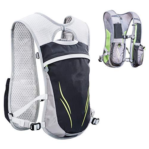 TRIWONDER Hydration Pack Backpack 5.5L Outdoors Mochilas Trail Marathoner Running Race Hydration Vest (Grey - Only Vest)