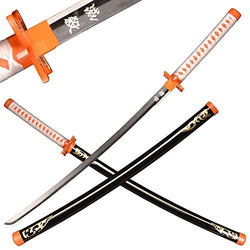 Sword Valley Japanisches Holz-Anime-Samurai-Schwert-Cosplay, Demon Slayer-Schwert 103 cm-Holzschwert--Kochou Shinobu