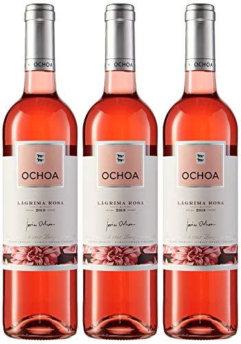OCHOA Vino Rosado de Lagrima - 3 botellas x 750 ml - Total: 2250 ml