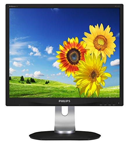 Philips Monitors 19P4QYEB/00 19 cm (19 Zoll) Monitor (VGA, DVI, Displayport, ADS Panel, 4x USB, 1280 x 1024, höhenverstellbar, Pivot, integrierte Lautsprecher) schwarz